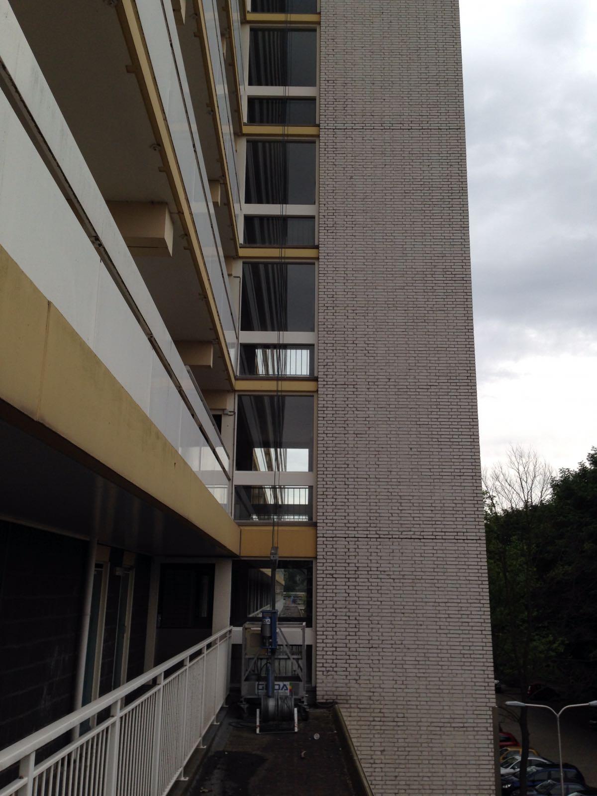 Gevel schilderen appartementencomplex